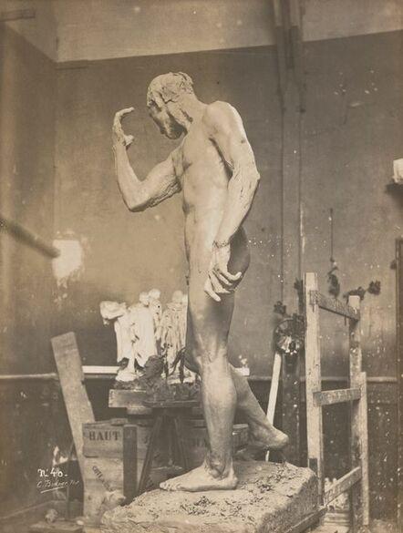 Charles Bodmer, 'Pierre de Wissant nu en terre dans l'atelier (Pierre de Wissant clay nude in studio)', c. 1886