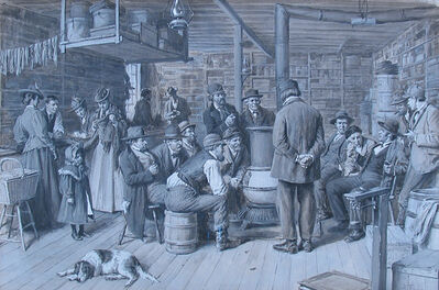 A. B. Frost, 'The Country Store as a Social Centre', ca. 1900