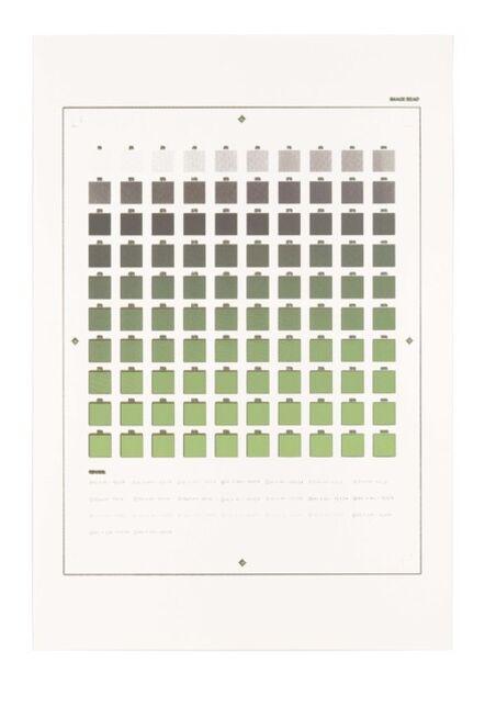 "Ryan Gander, '""Crooked finance... Gradient economy... Every colour left…""', 2014"