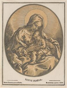 Bartolomeo Coriolano after Guido Reni, 'Virgin and Child', 1630