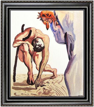 Salvador Dalí, 'Salvador Dali Divine Comedy Limited Edition Glazed Ceramic Tile Signed Artwork', 1971