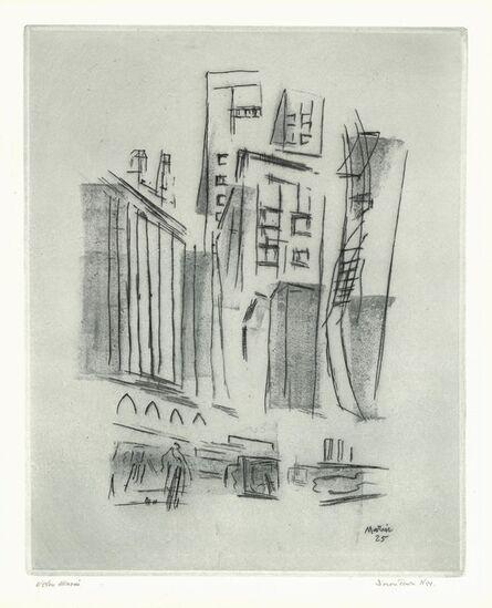 John Marin, 'Downtown Synthesis', 1925