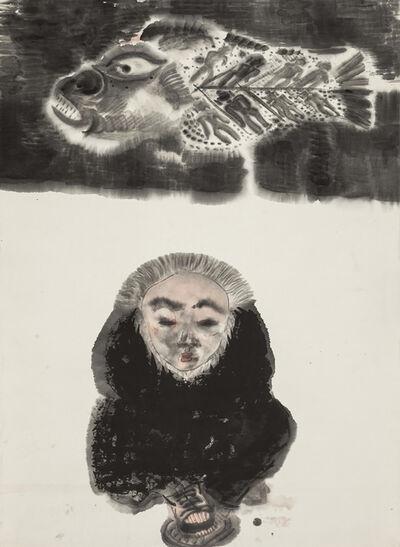 Li Jin 李津, 'Fish and Man 鱼与人', 1993
