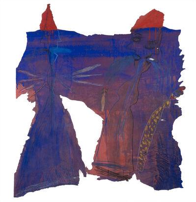 Monika Mauer-Morgenstern, '2 blaue Figuren (2 Blue Figures)', 1996