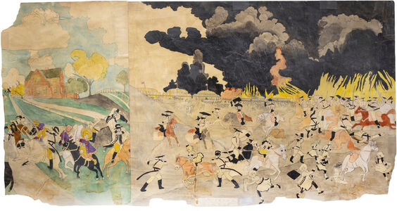 Henry Darger, 'They try to get away with the enemys plans... / Untitled', c. 1930, 40 / c. 1940, 50