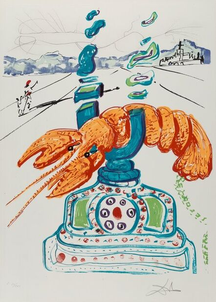 Salvador Dalí, 'Cybernetic Lobster Telephone, from Imaginations and Objects of the Future', 1975
