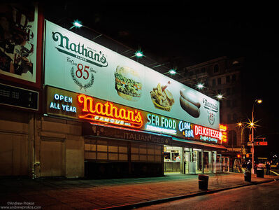Andrew Prokos, 'Nathan's Famous at Night, Coney Island', 2005