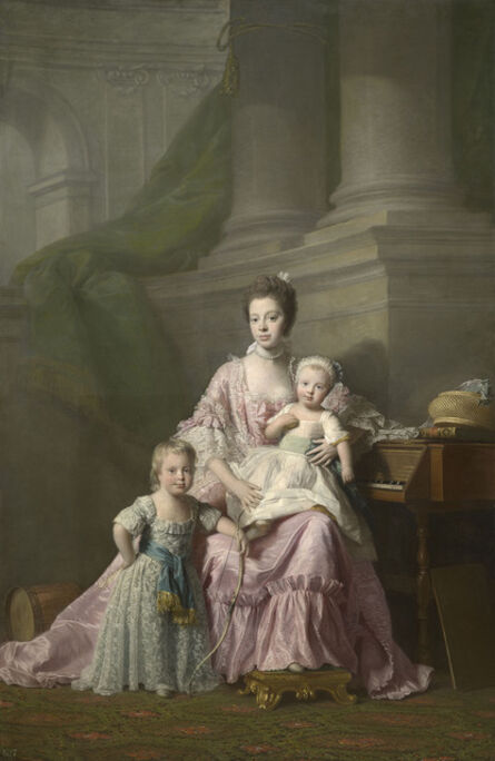 Allan Ramsay, 'Queen Charlotte (1744-1818) with her two Eldest Sons', 1764-1769