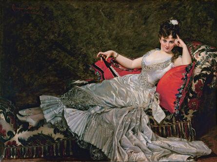 Charles Auguste Émile Carolus-Durand, 'Portrait of Julia Tahl known as Mademoiselle Alice de Lancey', 1876