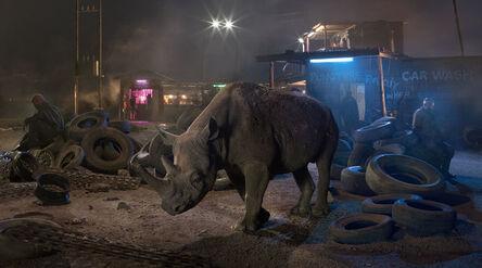 Nick Brandt, 'Garage with Blind Rhino', 2018