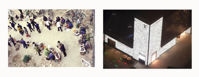 Stephen Verona, '(Left) Street Commerce, (Right) Louis Vuitton Store at a Mall', 1980-2014