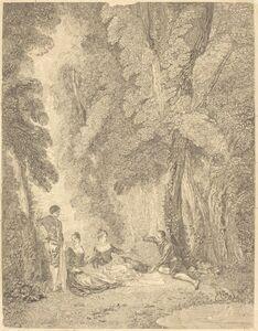 Jean Moyreau after Antoine Watteau, 'La colation', ca. 1729