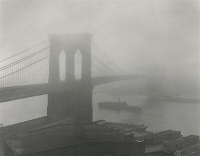 Andreas Feininger, 'Brooklyn Bridge in Fog', 1948; printed later