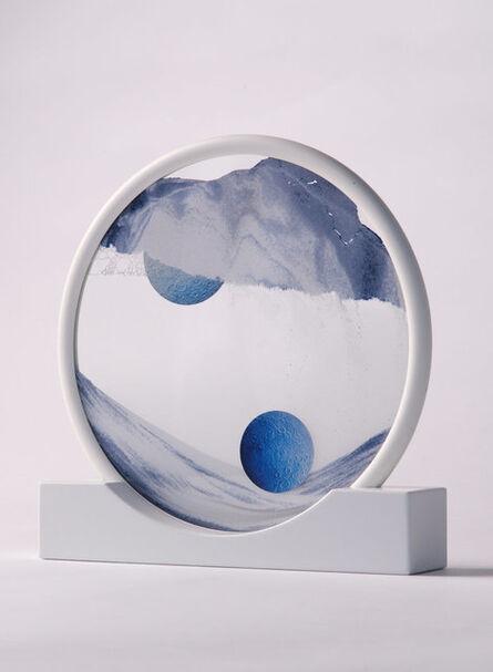 Daniel Arsham, 'Future Relic Sand Circle Sculpture Art Blue', 2017