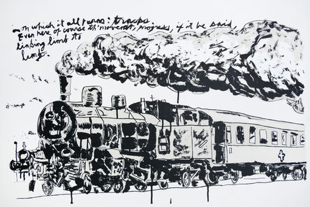 Raymond Pettibon, 'Untitled (Train)', 2018