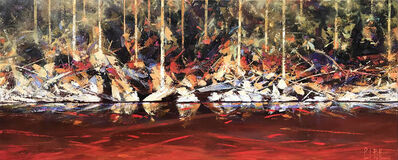 Paul Battams, 'Sunset on Crab Pot Creek', ca. 2019