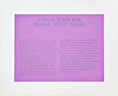 "Robert Morris (b. 1931), 'A Final Tomb for Frank ""Jelly"" Nash', 1980"