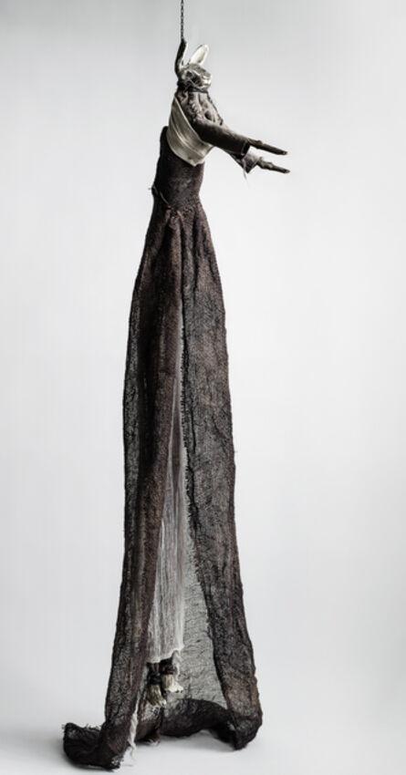 Elizabeth Jordan, 'Sculpture of hare suspended from chain: 'Children 2'', 2020