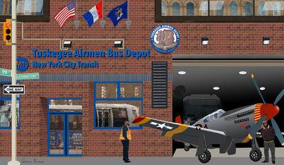 Susan Baus, 'Tuskegee Airmen in Harlem', 2020