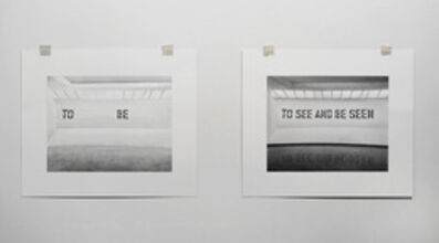 """Martí Cormand, 'Formalizing their concept: Lawrence Weiner's """"TO SEE AND BE SEEN"""", 1972', 2013"""