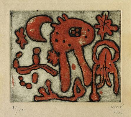 Joan Miró, 'The Prints of Joan Miró: one plate', 1947