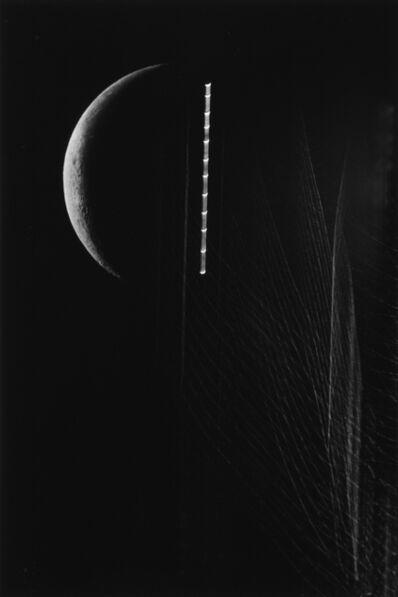 Kikuji Kawada, 'A Crescent, Poplars, and Moon Trailing, Tokyo', 1987