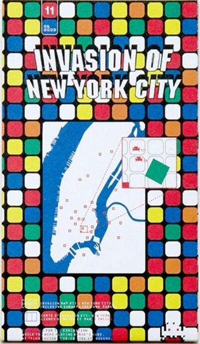 Invader, 'Invasion of New York City Map', 2003