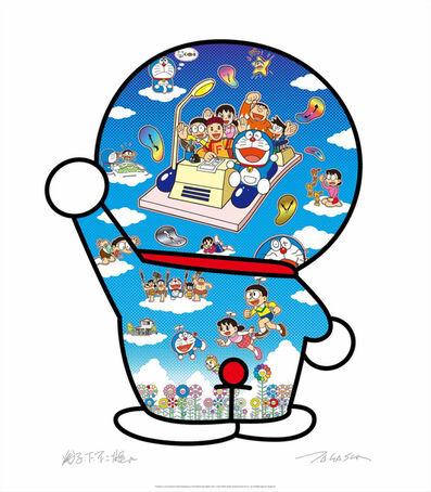 Takashi Murakami, 'Doraemon, let's go beyond the dimension with Fujiko F. Fujio on a time machine!', 2020