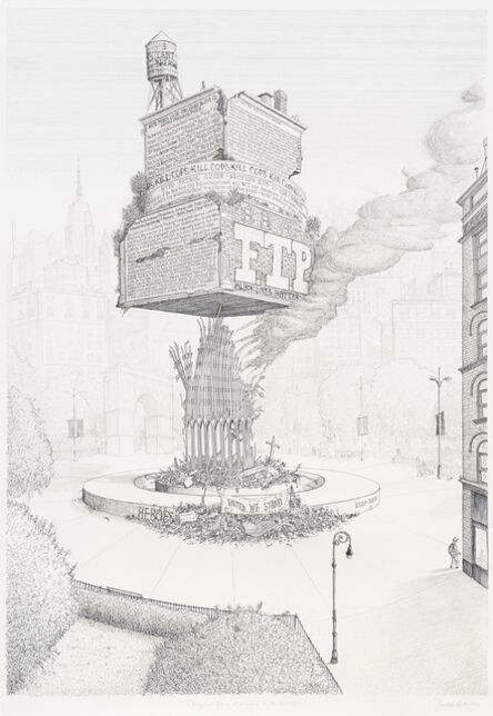 Sandow Birk, 'Proposal for a Monument to the NYPD', 2015