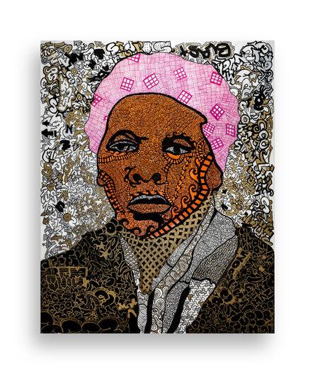 Roberto Lugo, 'Angry Mob of Peaceful Protestors: Harriet Tubman', 2019