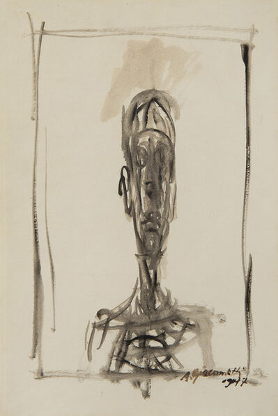 Alberto Giacometti, 'Buste d'homme, Portrait de Diego', 1947