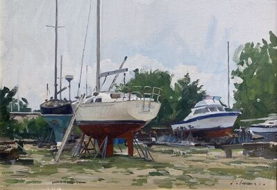 Marc Dalessio, 'Boatyard at Round Pond ', 2015