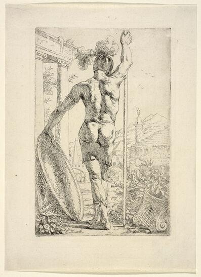 Leendert van der Cooghen, '[Warrior with his shield and lance]', 1666