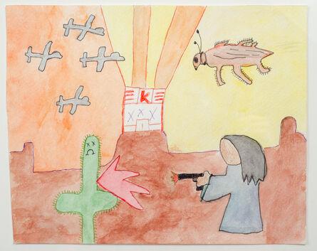 Al Perry, 'Untitled (Sad Cactus Shot by Faceless Figure)', 2015