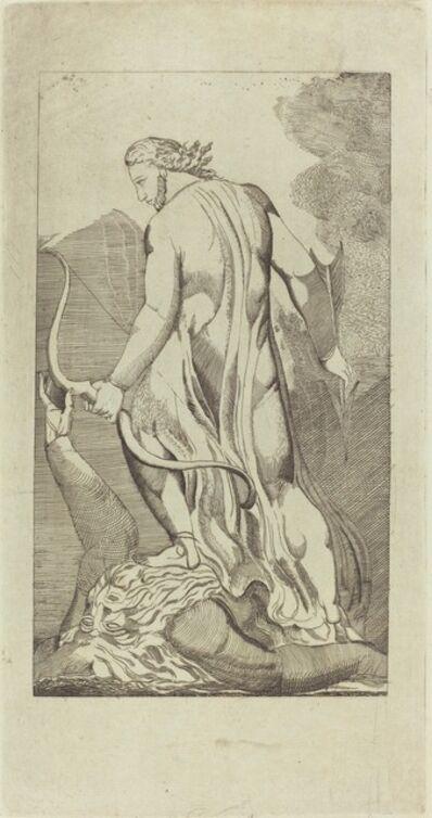 Thomas Butts, Jr., 'Christ Trampling Satan, after William Blake'
