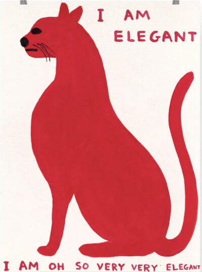 David Shrigley, 'I Am Elegant', 2021
