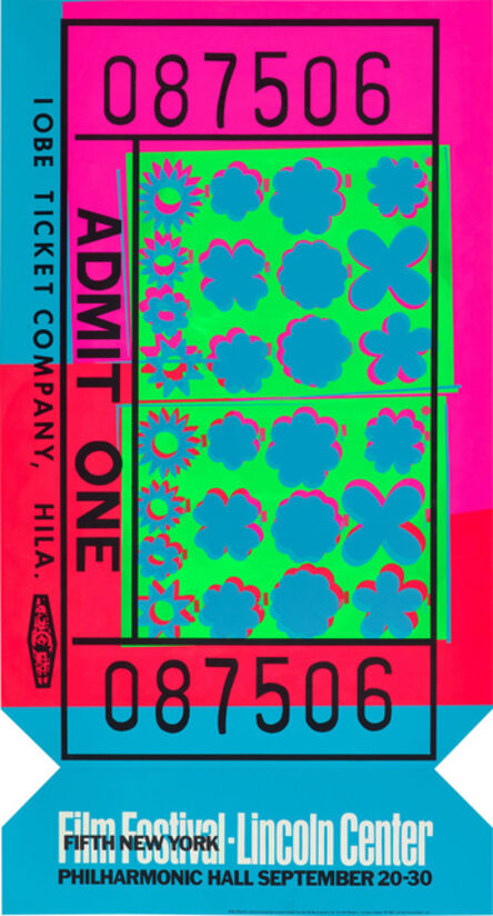 Andy Warhol, 'Lincoln Center Ticket (F. & S. 19, R. p. 130)', 1967
