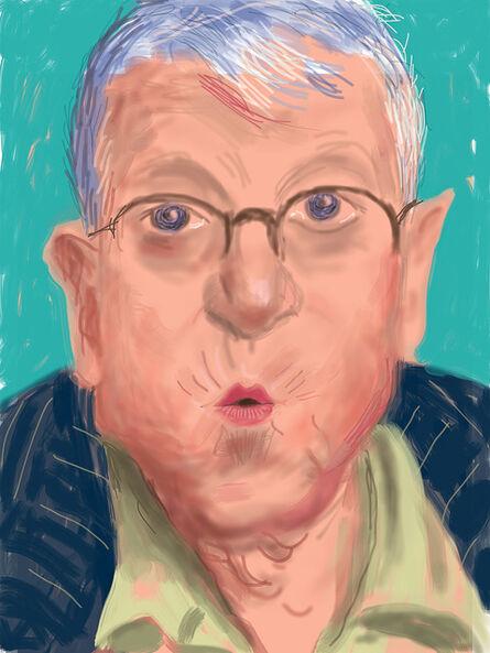 David Hockney, 'Self-portrait, 25 March 2012, No. 2 (1233)', 2012