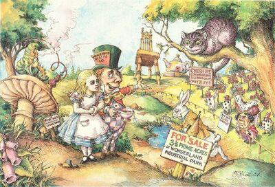 Max Schweber, 'Alice Buying Wonderland', 1985
