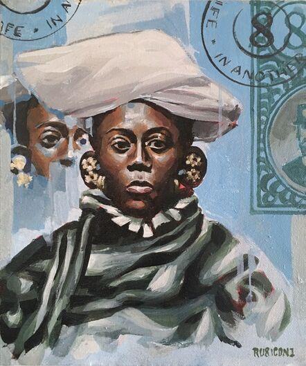 RU8ICON1, 'SWAHILI WOMAN OF SENEGAL', 2017