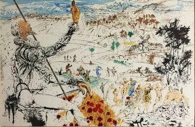 Salvador Dalí, 'Don Quichotte / The Golden age', ca. 1957