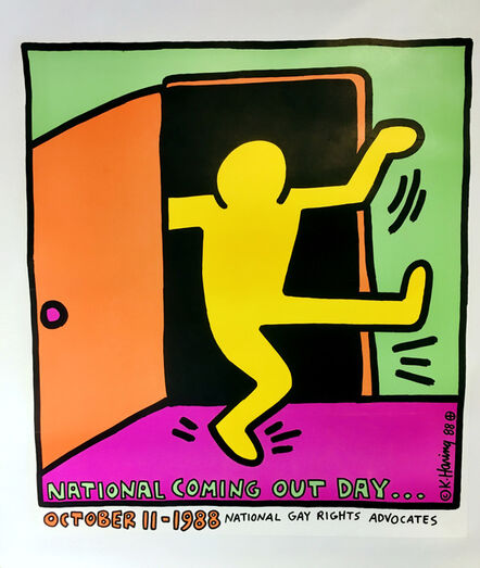 Keith Haring, 'Keith Haring National Coming Out Day poster, 1988', 1988
