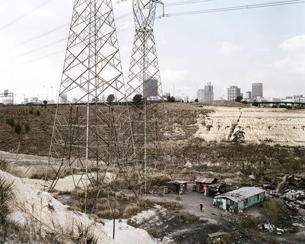 David Goldblatt, 'Squatter camp, slimes dam and the city from the southwest, Johannesburg. 12 July 2003', 2003