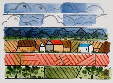 Richard Thompson, 'Red Roof', 2015