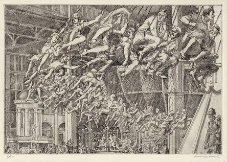 Reginald Marsh, 'Steeplechase Swings.', 1935