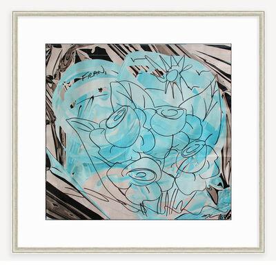 Jeff Koons, 'Flower Bouquet drawing on bag', 2012