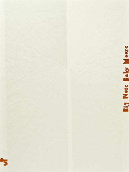 Mark Grotjahn, 'Untitled (White Butterfly Red Big Nose Baby Moose)', 2005