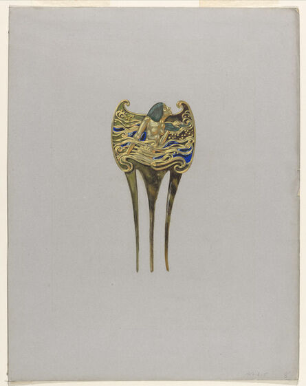 Eugène Samuel Grasset, 'Design for a Nymph Comb', ca. 1900