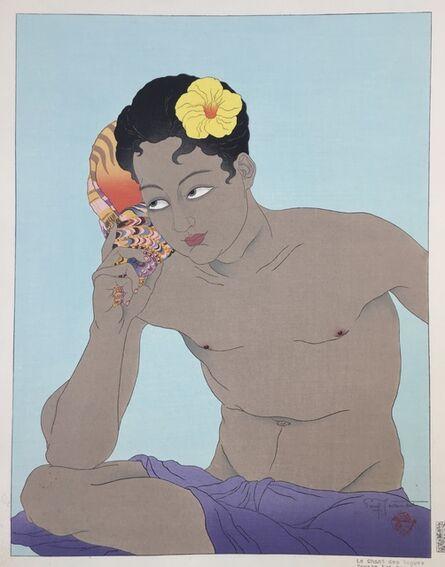 Paul Jacoulet, 'LE CHANT DES  VAGUE. PONAPE. EST CAROLINES  / SONG OF THE WAVE -', 1936-7