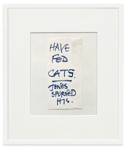 Keith Arnatt, 'Notes from Jo', 1991